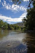 murrumbidgee river - stock photo