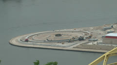 Point Park Under Construction Stock Footage