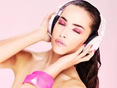 Stock Photo of woman with headphones