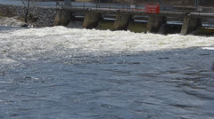 River Sluice Gates Stock Footage