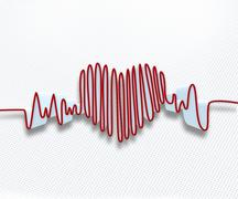 Heart rate waveform - stock photo