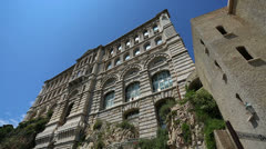 Monaco Oceanographic museum 02 Stock Footage