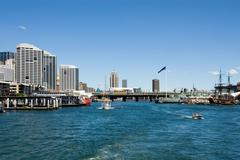 Darling harbour scene Stock Photos