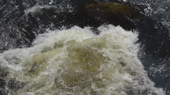 Slow Motion River Rapids Stock Footage