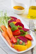 Healthy Fruits and Veggies salad Stock Photos