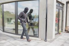 Burglar with cro bar Stock Photos