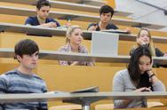 Stock Photo of Class listening in a lecture hall
