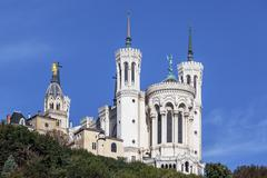the apse of the basilica of notre dame de fourviere - stock photo