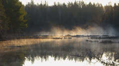 Sunrise In Algonquin Park Wilderness Lake Stock Footage