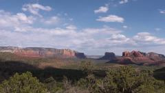 Sedona Arizona Valley Pretty Clouds Stock Footage