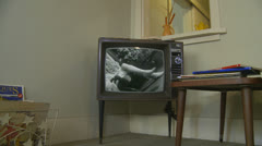 1960's  Fashion commercial on old tv Stock Footage