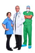 medical team isolated on white - stock photo