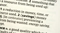 Stock Video Footage of Savings highlighted