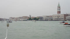 Arriving at venice from ship Stock Footage