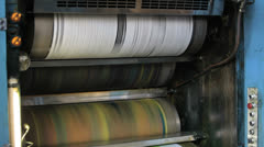 Printing newspaper, roll off paper Stock Footage
