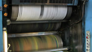 Stock Video Footage of printing newspaper, roll off paper