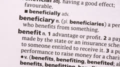 Benefit highlighted in green - stock footage