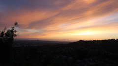 Sunset over Happy Valley Oregon Panning Panoramic View Stock Footage