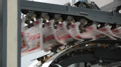 Printing newspaper almost ready Stock Footage