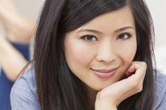 beautiful young asian chinese woman - stock photo