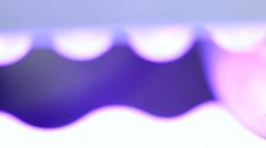 Drying Gel Nail Polish on Light Extreme Closeup Stock Footage