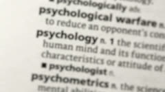 Focus on psychology - stock footage