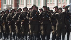 Parade WWII Stock Footage