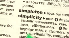Simplicity highlighted in green - stock footage