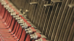 Carillon mechanism close up Stock Footage