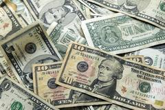 Dollar background Stock Photos