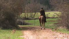 Man Riding Horses 1 Stock Footage