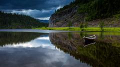 Scandinavian landscapes - stock photo