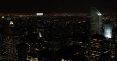 Ultra HD 4K Aerial View of New York City Skyline by evening, Citigroup Center Stock Footage