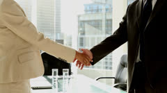 Businesspeople shaking hands Stock Footage