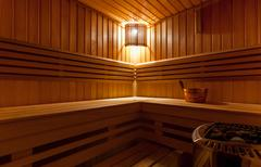 The Sauna interior Stock Photos