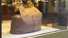 Bag on store display Stock Footage