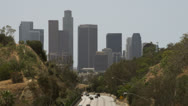 Commuters on their way into downtown Los Angeles Stock Footage