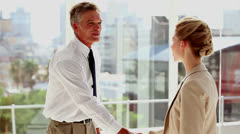 Business people meeting each other Stock Footage