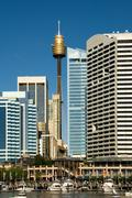 darling harbour scene, sydney, australia - stock photo