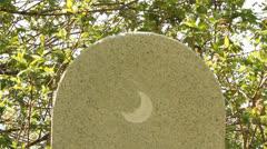 Muslim cemetery. Headstone, symbol Stock Footage