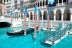 venetian casino hotel resort on the las vegas strip - stock photo