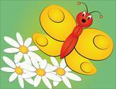 Illustration of cartoon butterfly Stock Illustration