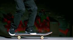 Stock Video Footage of Skater performing 360 flip trick