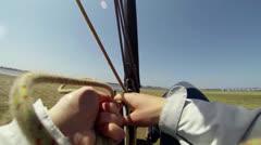 Windcar pilot POV Stock Footage