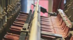 Carillon mechanism close up Stock Footage