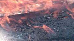 Burning plywood - slow motion (1) - stock footage