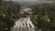 Traffic spread across multiple lanes Stock Footage