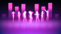 Silhouettes of women dancing Stock Footage