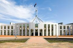 parliament house, canberra, australia - stock photo