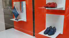 Fancy shoes on store display Stock Footage